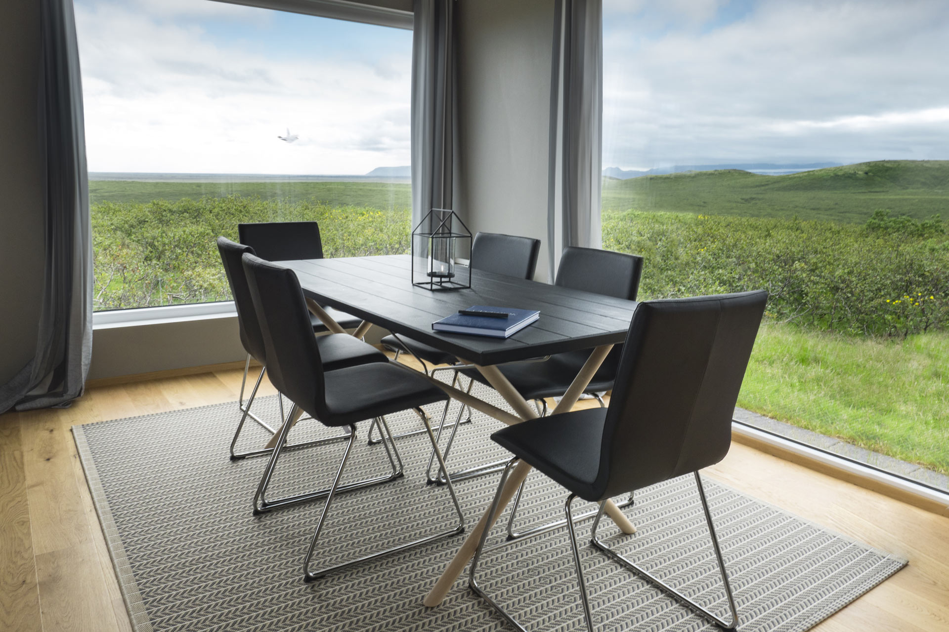 dining room in hrifunes nature park in iceland