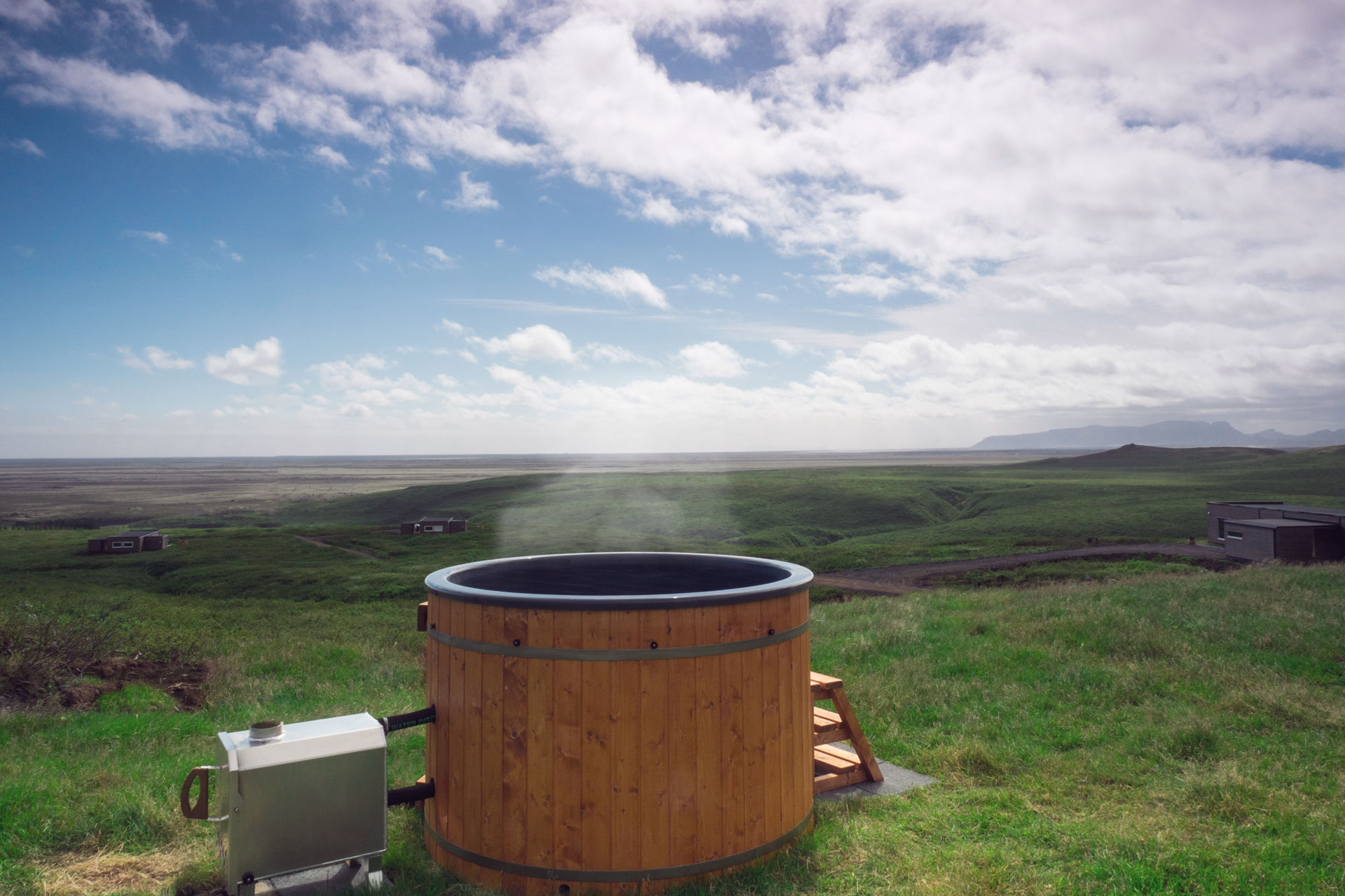 hot tub in hrifunes nature park south iceland