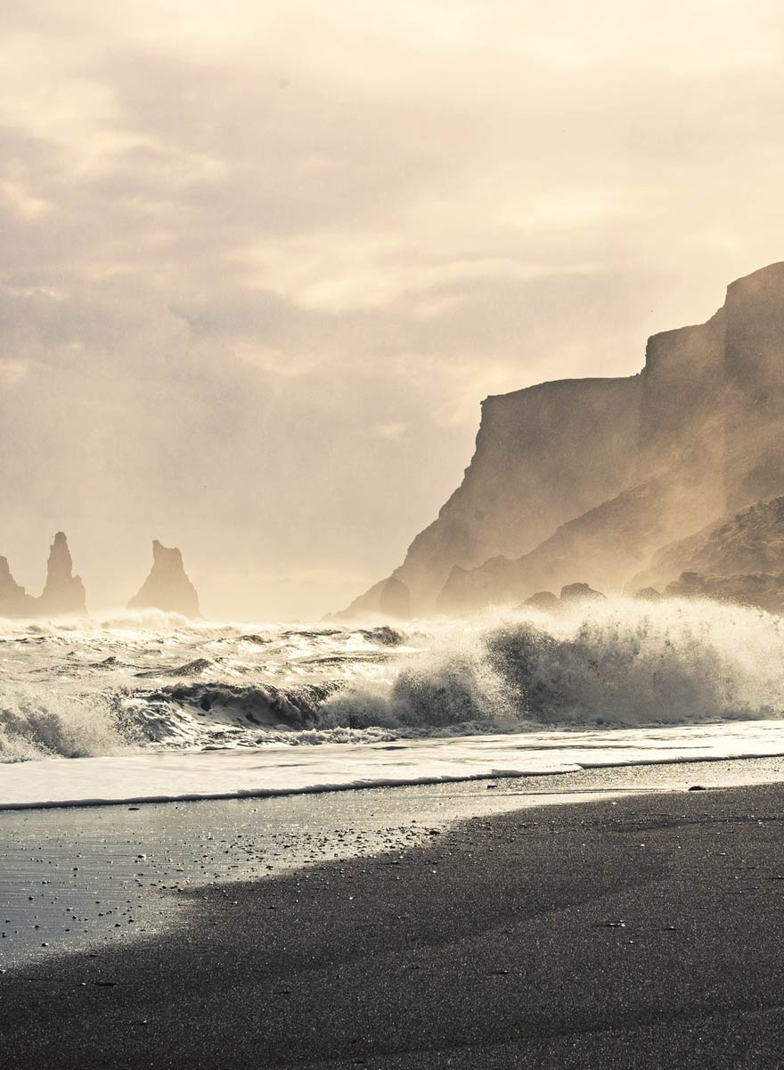 Reynisfjara, beautiful but dangerous. One of icelands most popular tourist attractions near hrifunes nature park holiday apartments